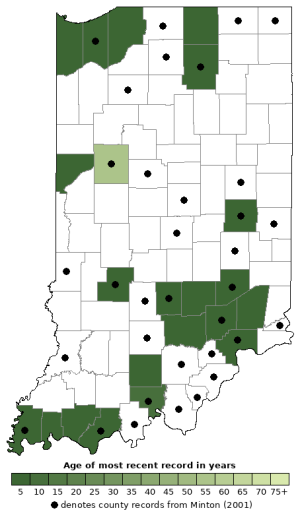 Distribution map of Spotted Salamander (Ambystoma maculatum)