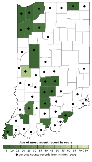 Distribution map of Eastern Hog-Nosed Snake (Heterodon platirhinos)