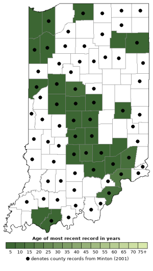Distribution map of Spring Peeper (Pseudacris crucifer)