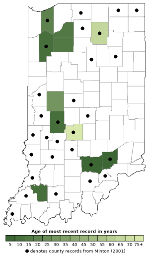 Distribution map of Eastern Ribbonsnake (Thamnophis sauritus)